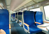 An interior view of a train — Stockfoto