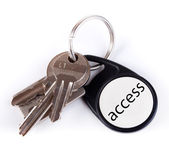 Keys on keyring — Stock Photo