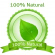 100 Natural. Vector natural label — Stock Vector