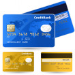 Collection of credit cards — Stock Vector