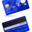 Highly detailed vector illustration of credit card — Imagens vectoriais em stock