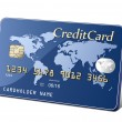 Vetorial Stock : Embossed plastic payment card