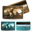 Colorful collection of credit cards. Highly detailed vector — Vettoriali Stock