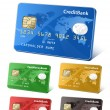 Collection of credit cards — Vektorgrafik