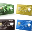 Collection of credit cards — Imagen vectorial