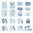 Vector icon set for business website — Image vectorielle