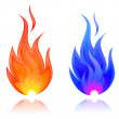 Vector Illustration of fire. Natural gas — Stock Vector