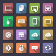 Vector de stock : Web icons set. Flaticons series