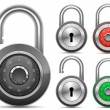 Padlock Collection. Vector illustration — Stock Vector