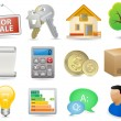 Real Estate Icon Set — Stock Vector