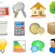 Real Estate Icon Set — Vettoriale Stock #30045383