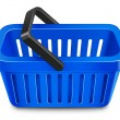 Shopping basket. Vector illustration — Vettoriali Stock