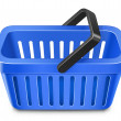Blue shopping basket — Vector de stock