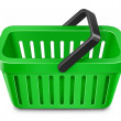 Stock Vector: Green shopping cart