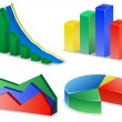 Charts and Graphs Collection. Reports set. — Vettoriale Stock  #30045461