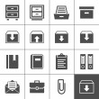 Stock vektor: Archive icons