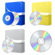 Software box with disk — Vector de stock #30045475