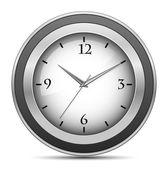 Chrome office clock — Stock Vector