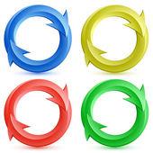 Vector illustration of color circular arrows. — Stock Vector