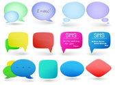 Collection of shapes and bubbles — Stock Vector