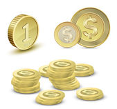 Goldmünzen — Stockvektor
