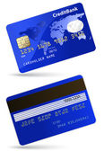 Highly detailed vector illustration of credit card — Stock Vector