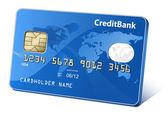 Kredit-oder debitkarte — Stockvektor