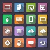 Conjunto de iconos web. serie flaticons — Vector de stock