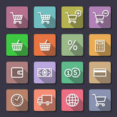Shopping icons set. Flaticons series — Stok Vektör