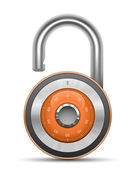 Combination Lock Collection. Security Concept. Vector illustration of padlock — Stock Vector