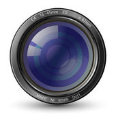 Vector illustration of camera lens — Vettoriale Stock