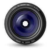 Vector illustration of a camera lens — Stock Vector