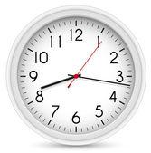 Wall Clock. Vector Office Clock — Stock Vector