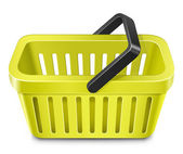 Yellow shopping basket — Vector de stock
