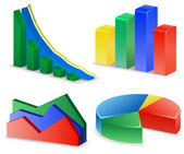 Charts and Graphs Collection. Reports set. — Stock Vector
