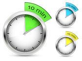 10 minutes. Timer vector illustration. — Stock Vector