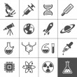 Research icon set — Stock Vector