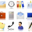 图库矢量图片: Office supplies icons