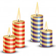 Burning candles — Vector de stock
