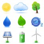 Eco icônes — Vecteur