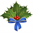 Stock Vector: christmas holly