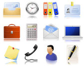 Office supplies icons — Stock Vector