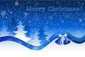 Weihnachten postkarte — Stockvektor
