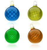 Christmas balls collection — Stock Vector