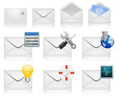 Mail Marketing Icon Set — Stock Vector