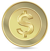 Goldmünze — Stockvektor
