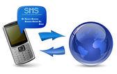 Envoyer et recevoir des sms — Vecteur