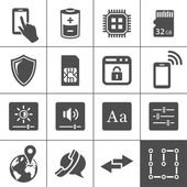 Mobile device settings icons — Stock Vector