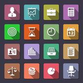 бизнес иконы set — Cтоковый вектор