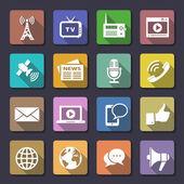 Media iconen set — Stockvector